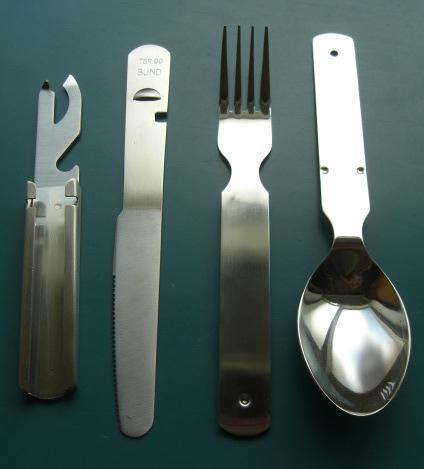 独メスキット(フォーク、スプーンナイフなどのセット)