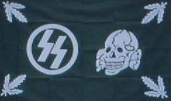 親衛隊ドクロ葉旗