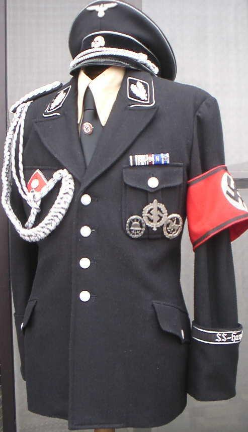 SS親衛隊黒服 通常ウールタイプ