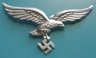 空軍LW金属帽章