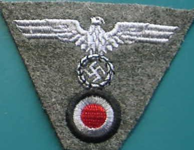刺繍陸軍帽章兵ワンピース