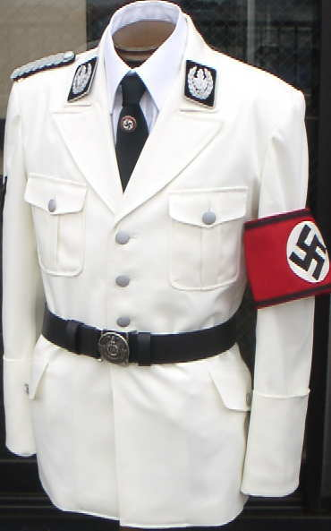 開襟SSホワイトジャケット