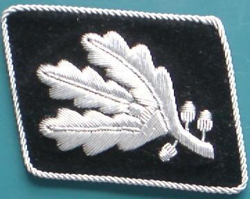SS中将初期型襟章