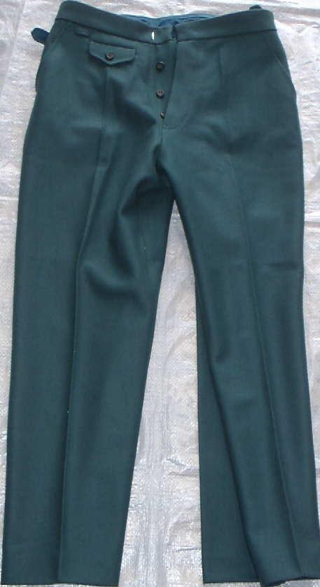 SDストレートズボン緑ウールタイプ