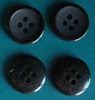 15mm黒4穴樹脂ボタン