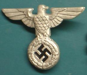 親衛隊ワシ帽章初期型