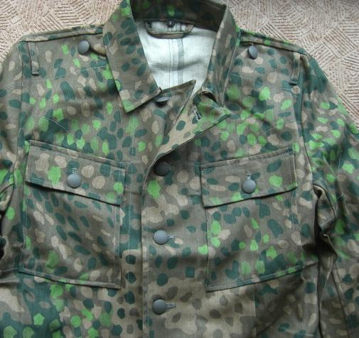 M44SS迷彩戦闘服4ポケット(ss兵肩章つき黒台)