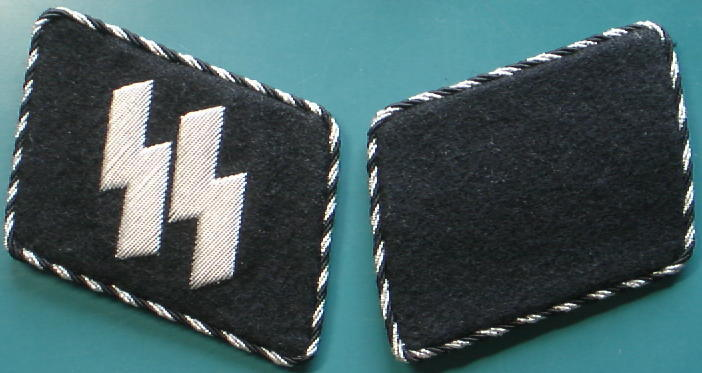 SS銀黒捻じり指揮官初期襟章