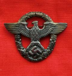秩序警察金属帽章