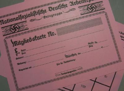 ナチ党員証明証カード
