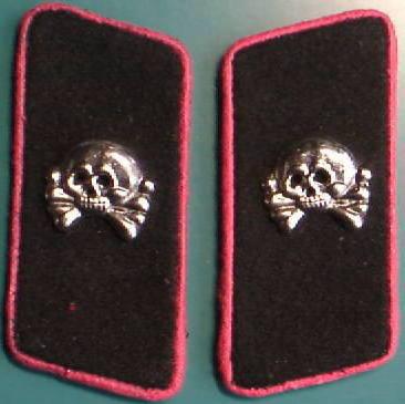 戦車兵ドクロ襟章