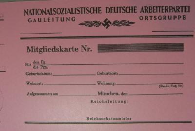 ナチ党メンバーシップ紙カード