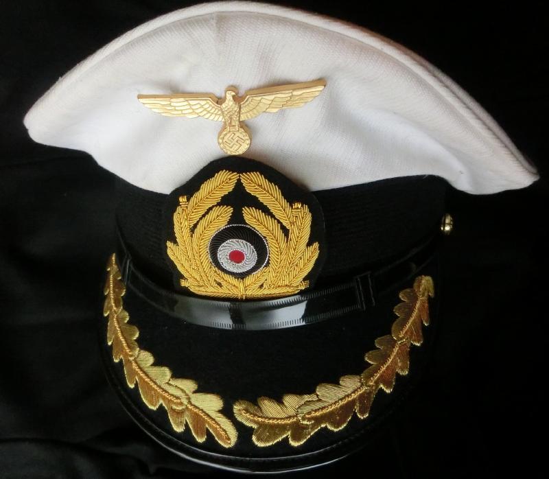 海軍制帽白トップ(放出品中古改造)