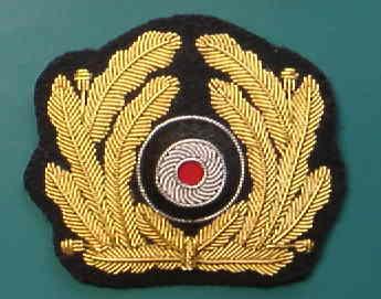 海軍リーフ&コカルデ刺繍帽章