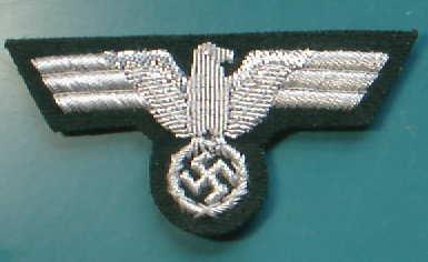 陸軍制帽用銀モール帽章