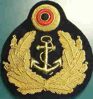 ドイツ海軍制帽帽章丸コカルデつき