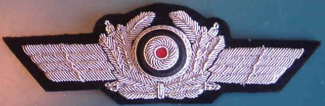 空軍制帽刺繍帽章