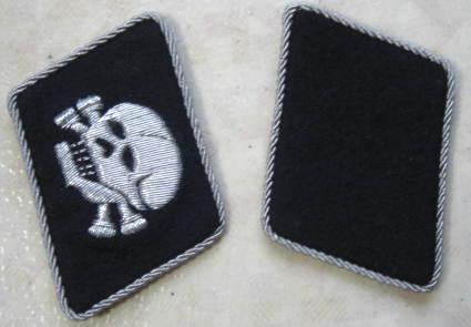 横ドクロ(外向き)将校襟章