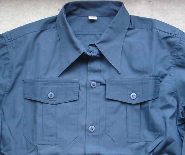 青灰ヘムトシャツ