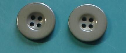 大サイズ緑灰4穴樹脂ボタン