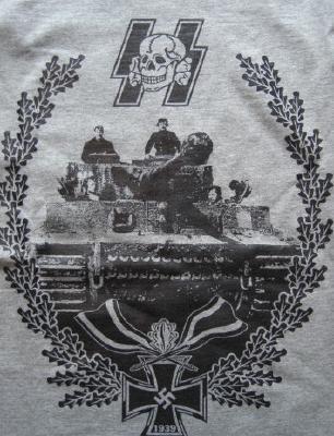 ティーガー1型剣つき柏葉Tシャツ