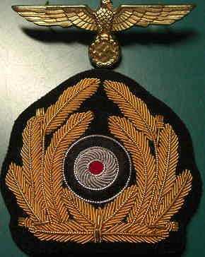 KM海軍リーフ刺繍帽章
