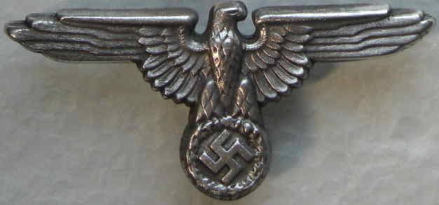 金属SSアドラー帽章銀色