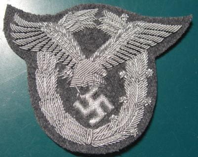 銀刺繍パイロット章