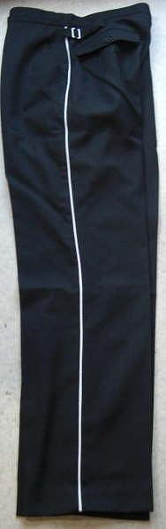 DX版黒ストレートパンツ白ライン