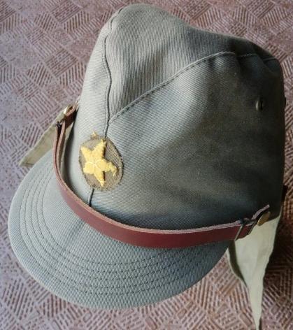 兵用日本陸軍戦闘帽 帽垂れつき