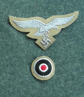 型ヌキ空軍兵鷲コカルデ帽章セット