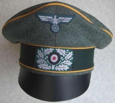 偵察陸軍クラッシュキャップ/金属鷲銀色帽章つき
