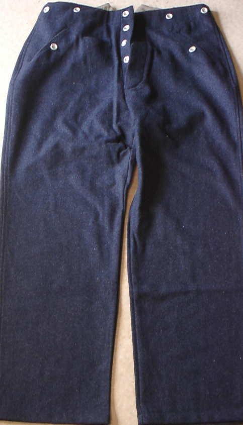 空軍青ストレート野戦ズボン