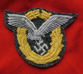 金刺繍パイロットオブザーバー章