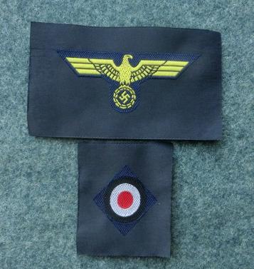 KM海軍シート状帽章