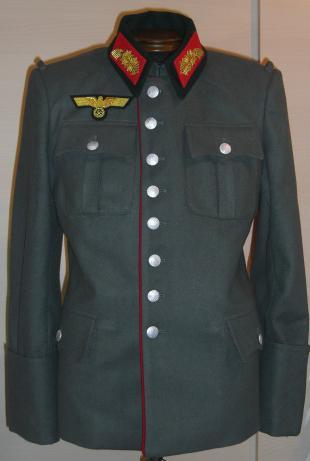 赤ライヒスヘール型準礼装ウールタイプ勤務服