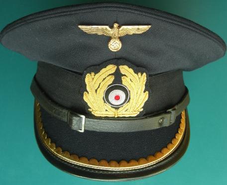 海軍尉官制帽紺トップ(放出品改造)