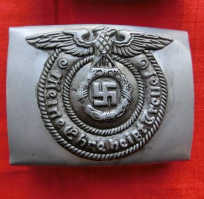 銀色SSバックル兵用 スチール製