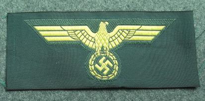 8 KM海軍沿岸砲兵国家鷲章胸用 兵下士官用
