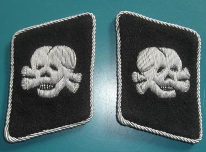 縦左右ドクロ将校襟章