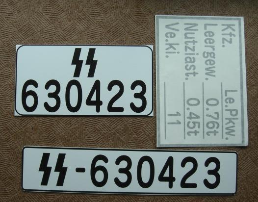 ドイツ軍車両ナンバーセット