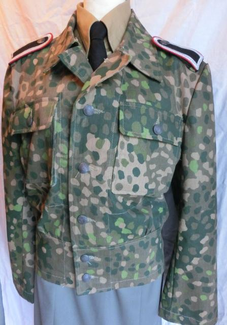 45Dot迷彩戦闘服2ポケット(ss兵肩章つき)