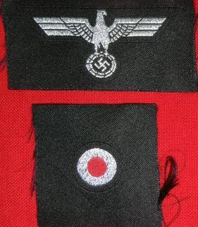 士官Pz陸軍ワシ&コカルデ兵帽章