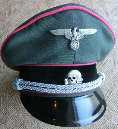 PzSS親衛隊将校制帽Fグレー色
