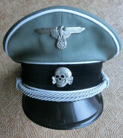 SS親衛隊士官制帽フィールドグレイ 特価版