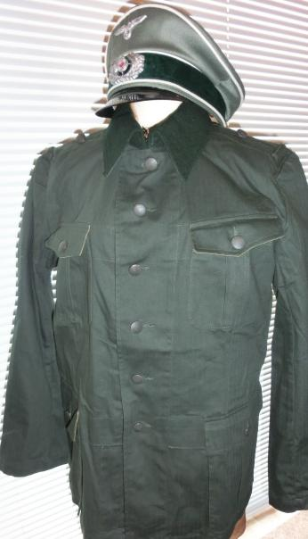 HBT野戦綿服36襟緑
