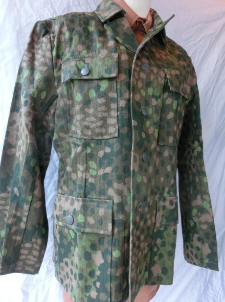 麻混紡M44Dot迷彩戦闘服4ポケット